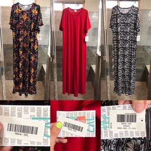 NWT Lot of 6 Lularoe Maria Dresses - size 2XL